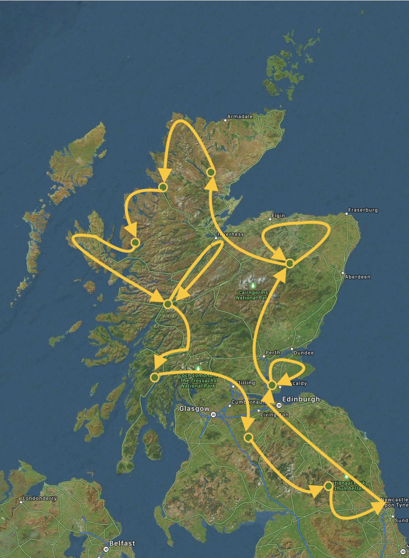 15 daagse reis Schotland LRP Reizen